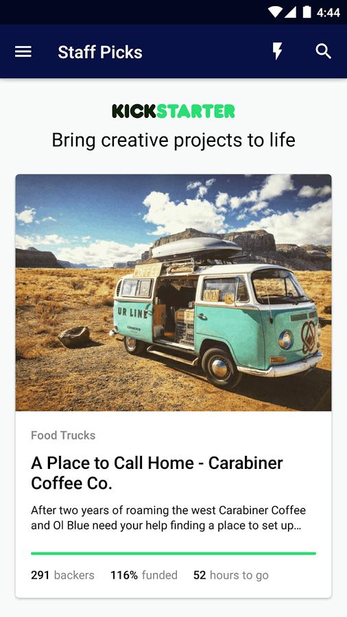 Kickstarter Android App 01