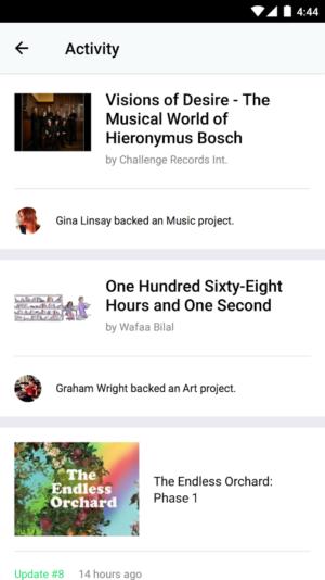 Kickstarter Android App 03