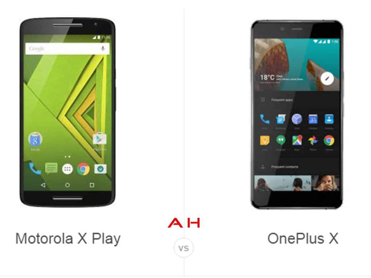 Moto X Play vs OnePlus X cam AH