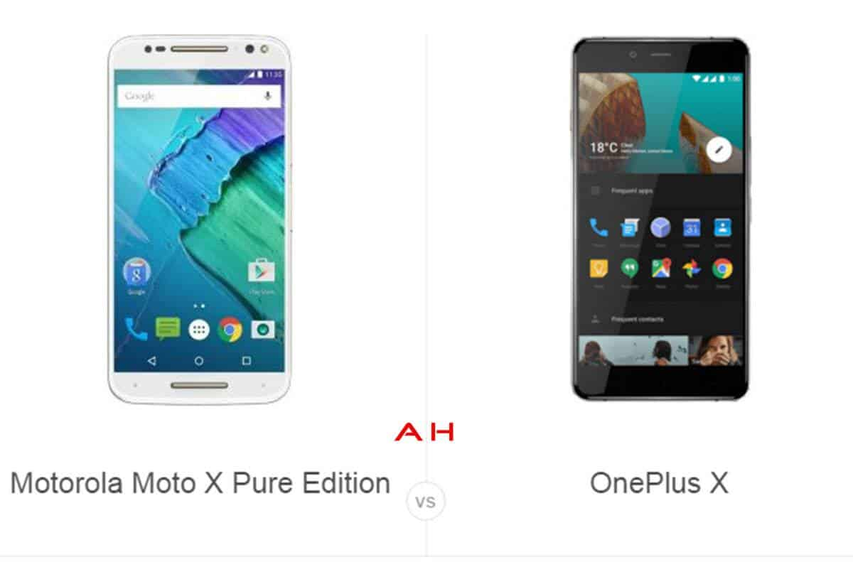 Moto X Pure Edition vs OnePlus X cam AH