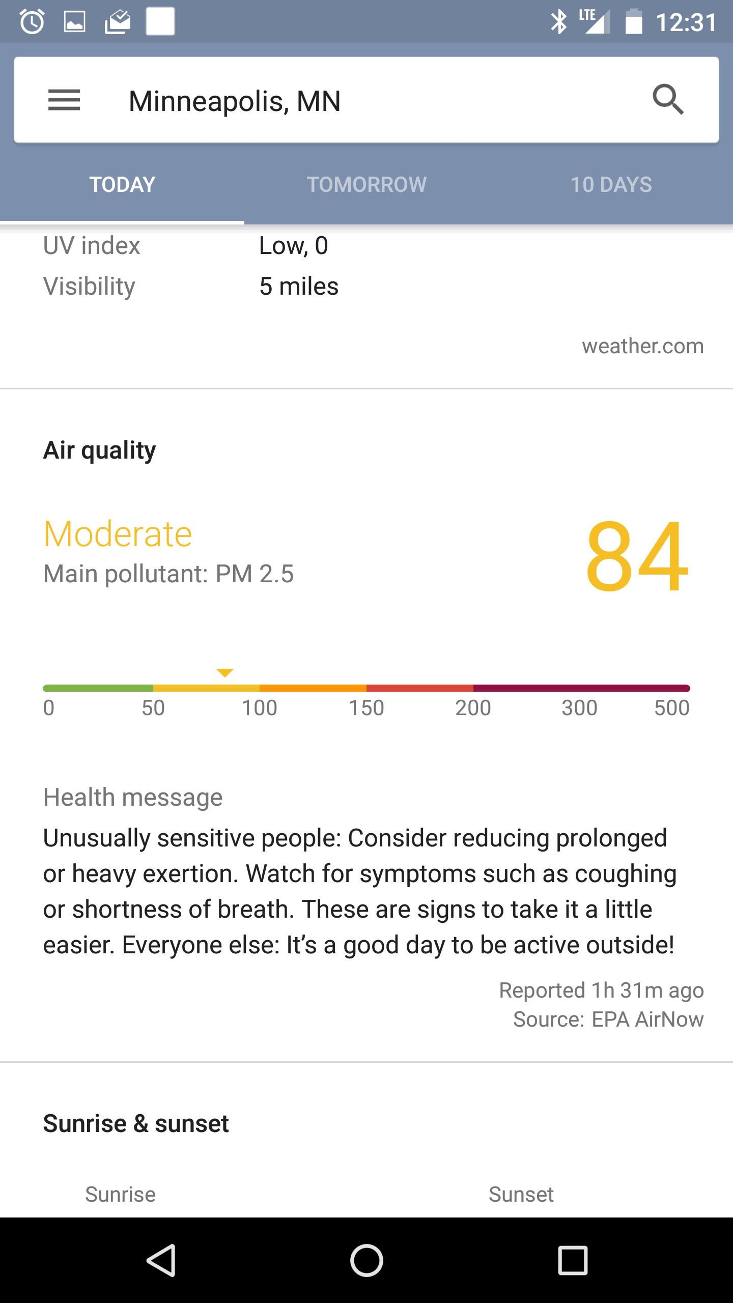 New Google Now Weather 10