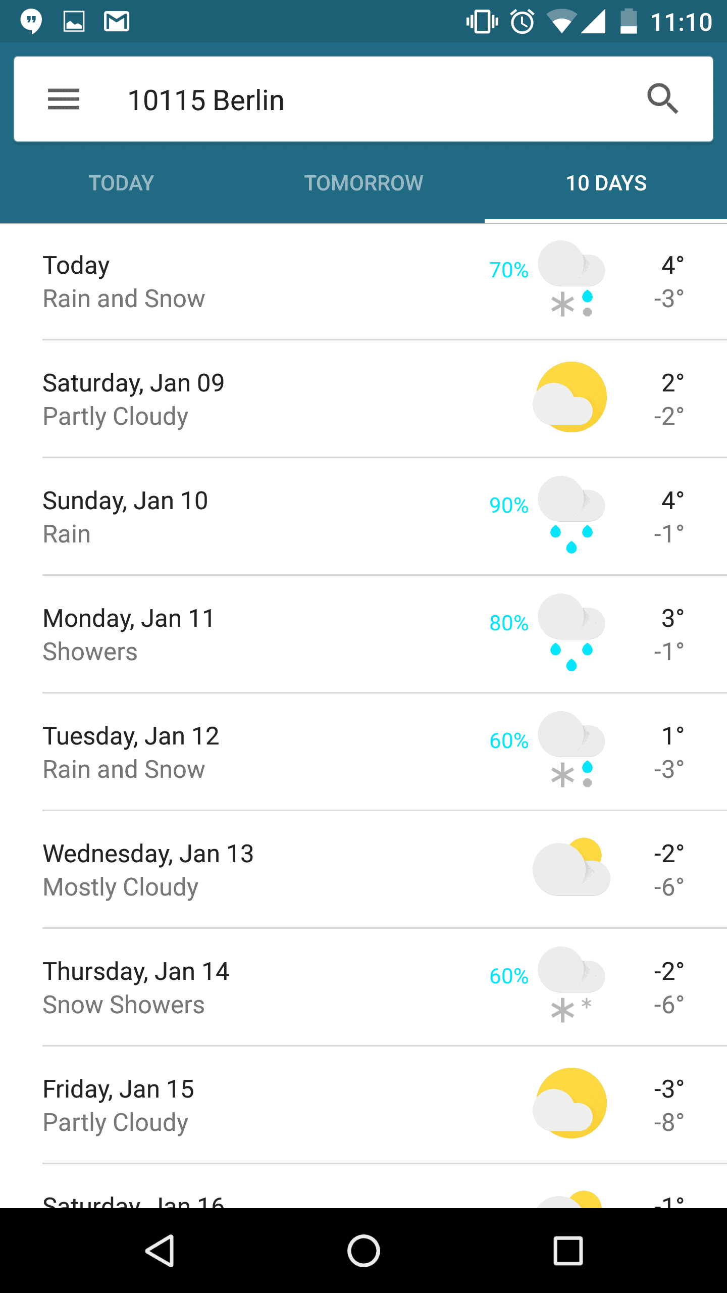 New Google Now Weather 2