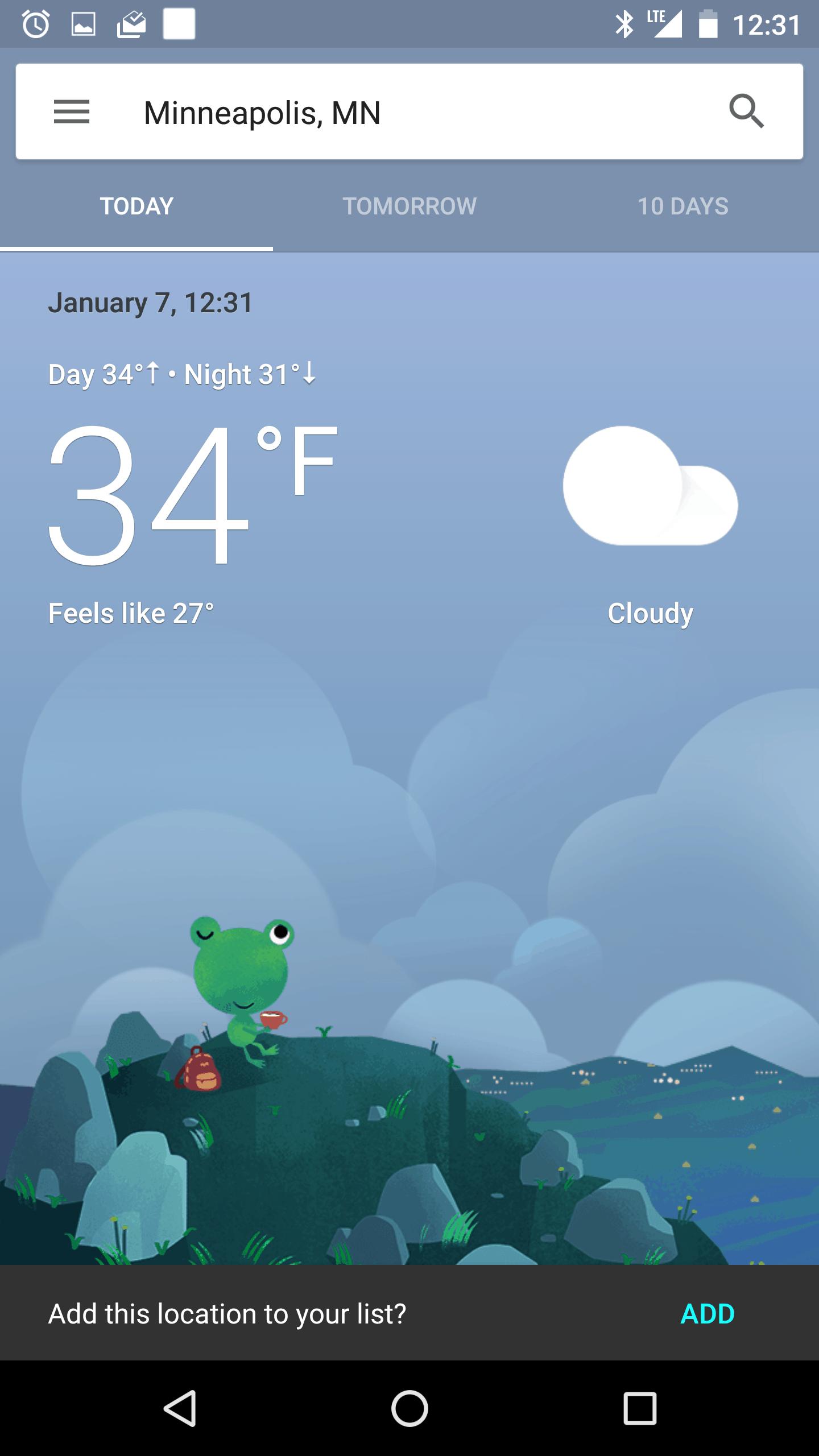 New Google Now Weather 5