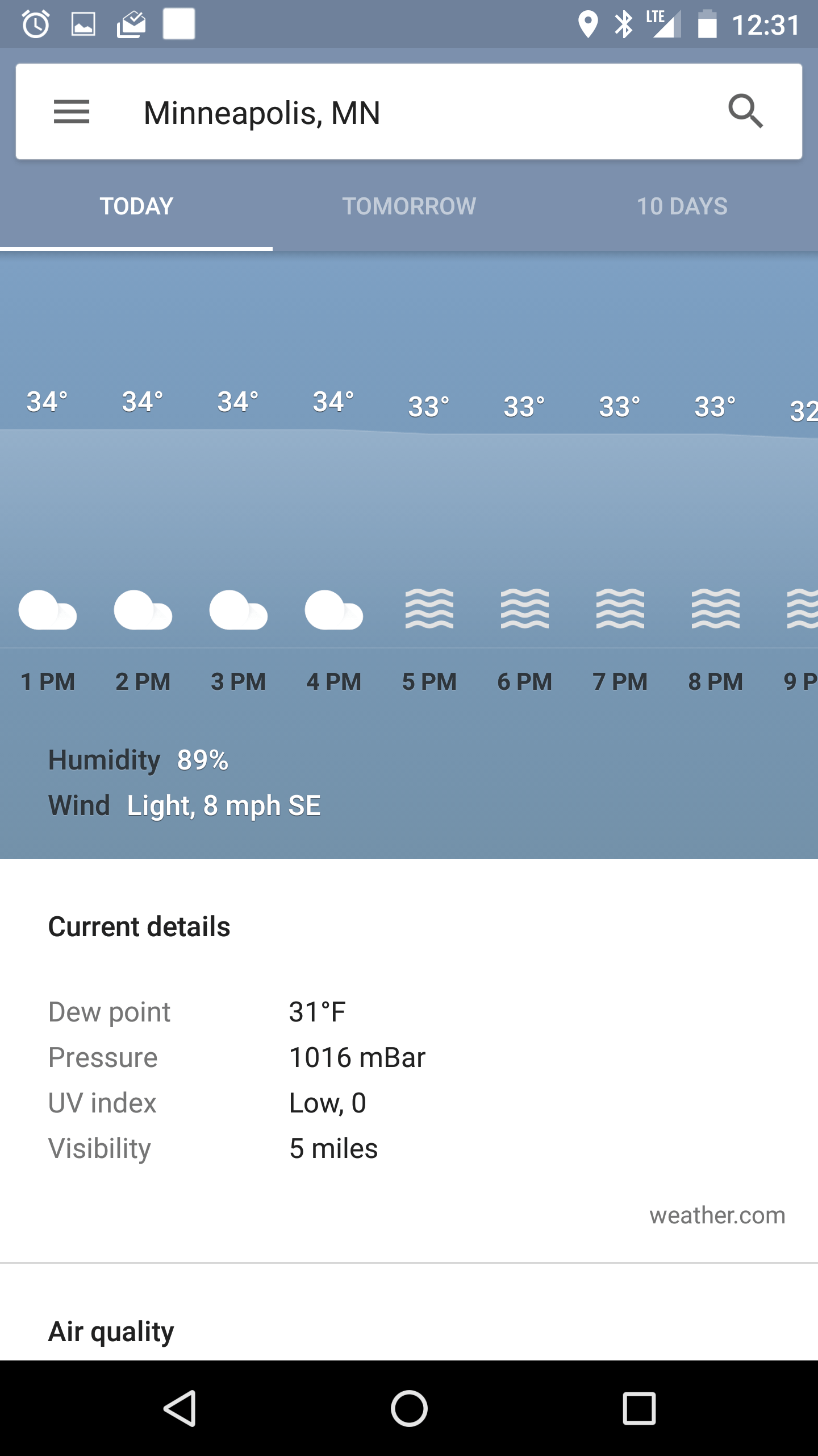 New Google Now Weather 6