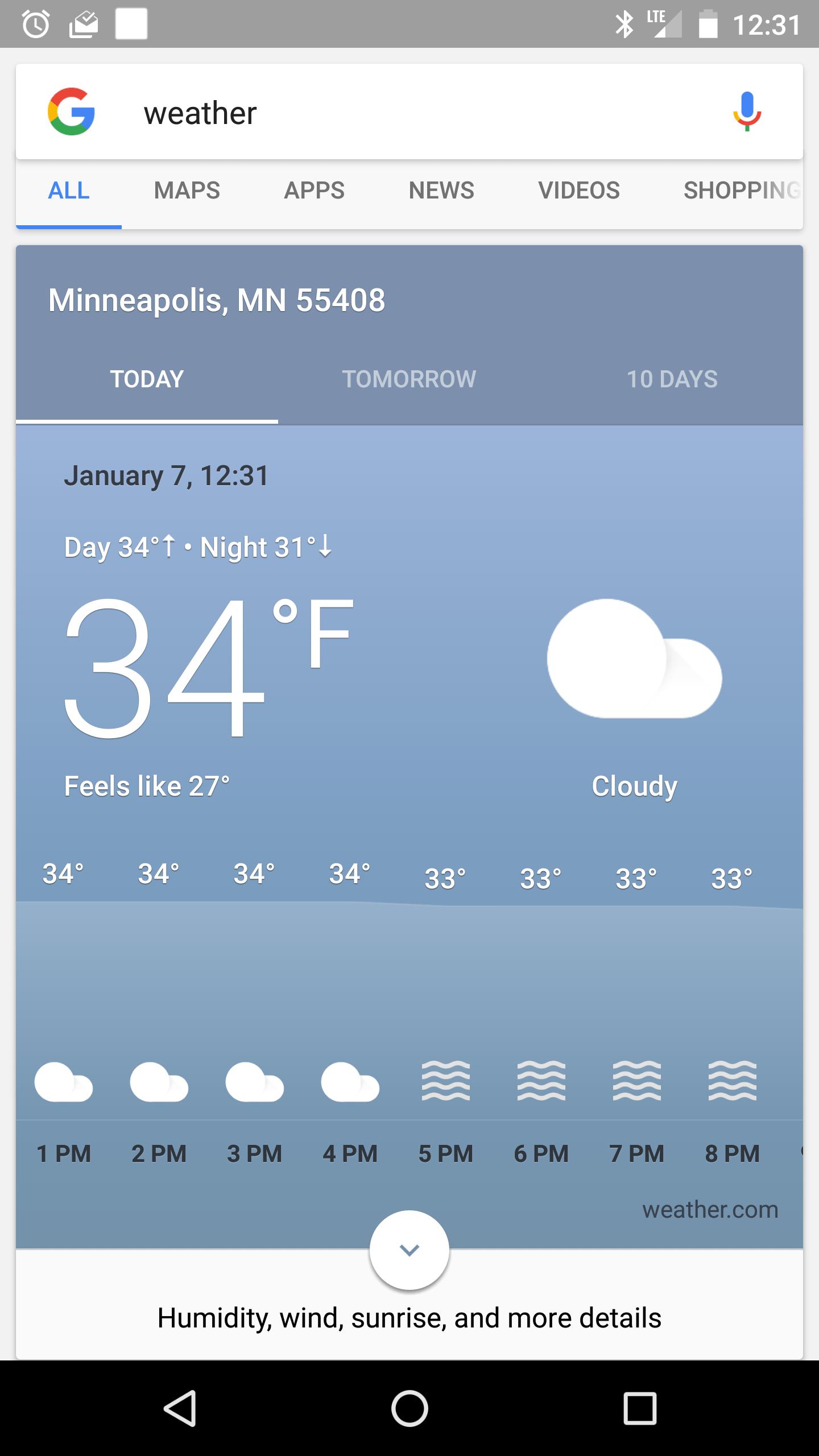 New Google Now Weather 7
