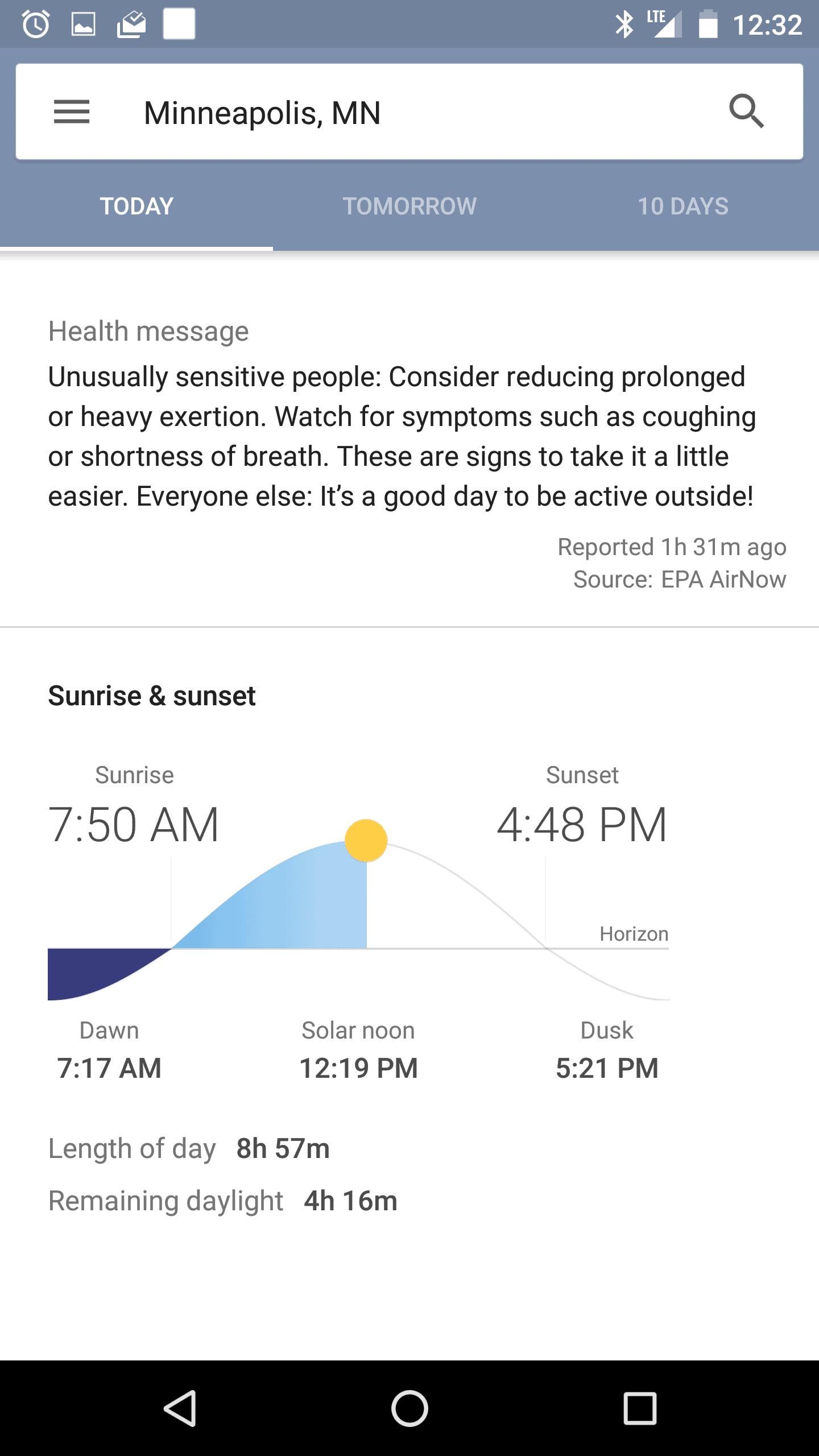 New Google Now Weather 9