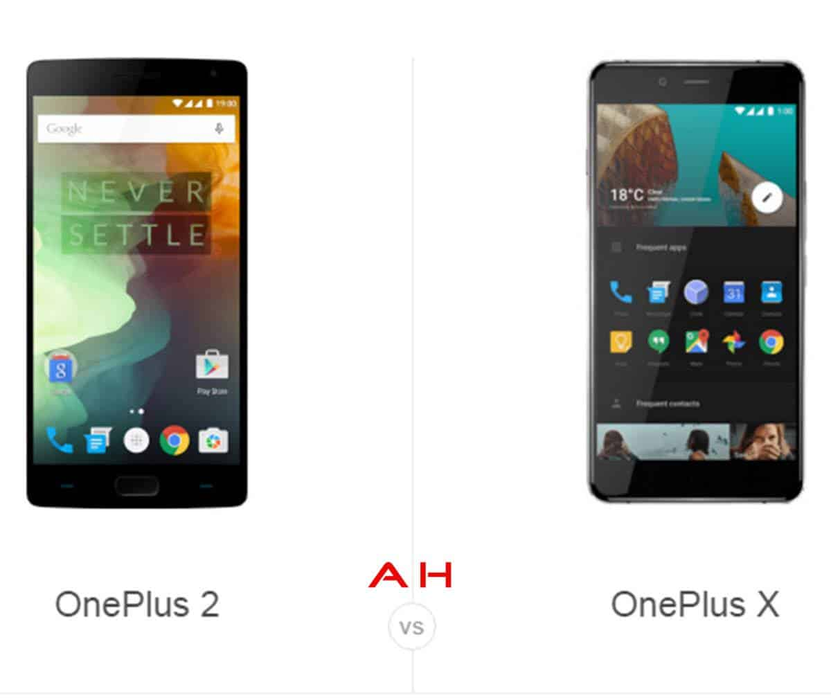 OnePlus 2 vs OnePlus X cam AH