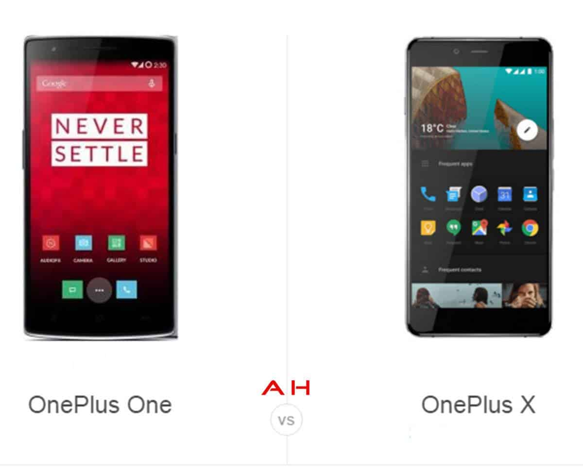 OnePlus One vs OnePlus X cam AH
