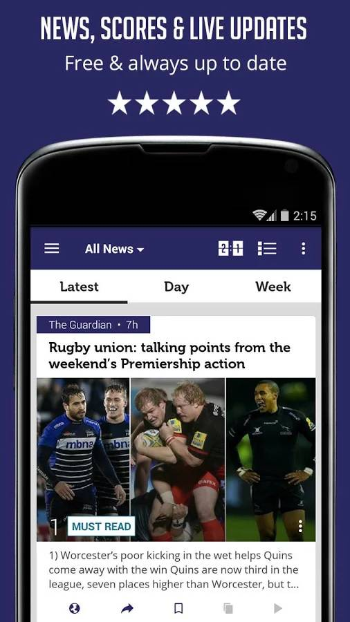 Rugby News & Live Scores - SF