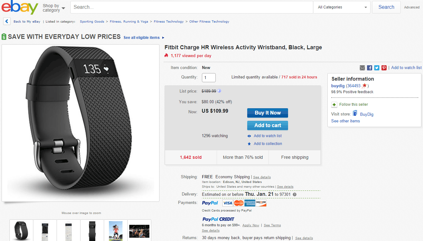 Fitbit Charge HR deal