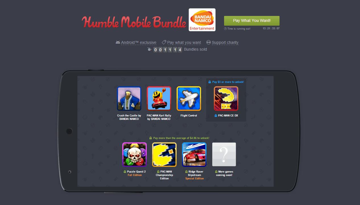 Humble Mobile Bandai Namco Bundle