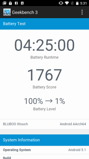 Bluboo Xtouch benchmarks