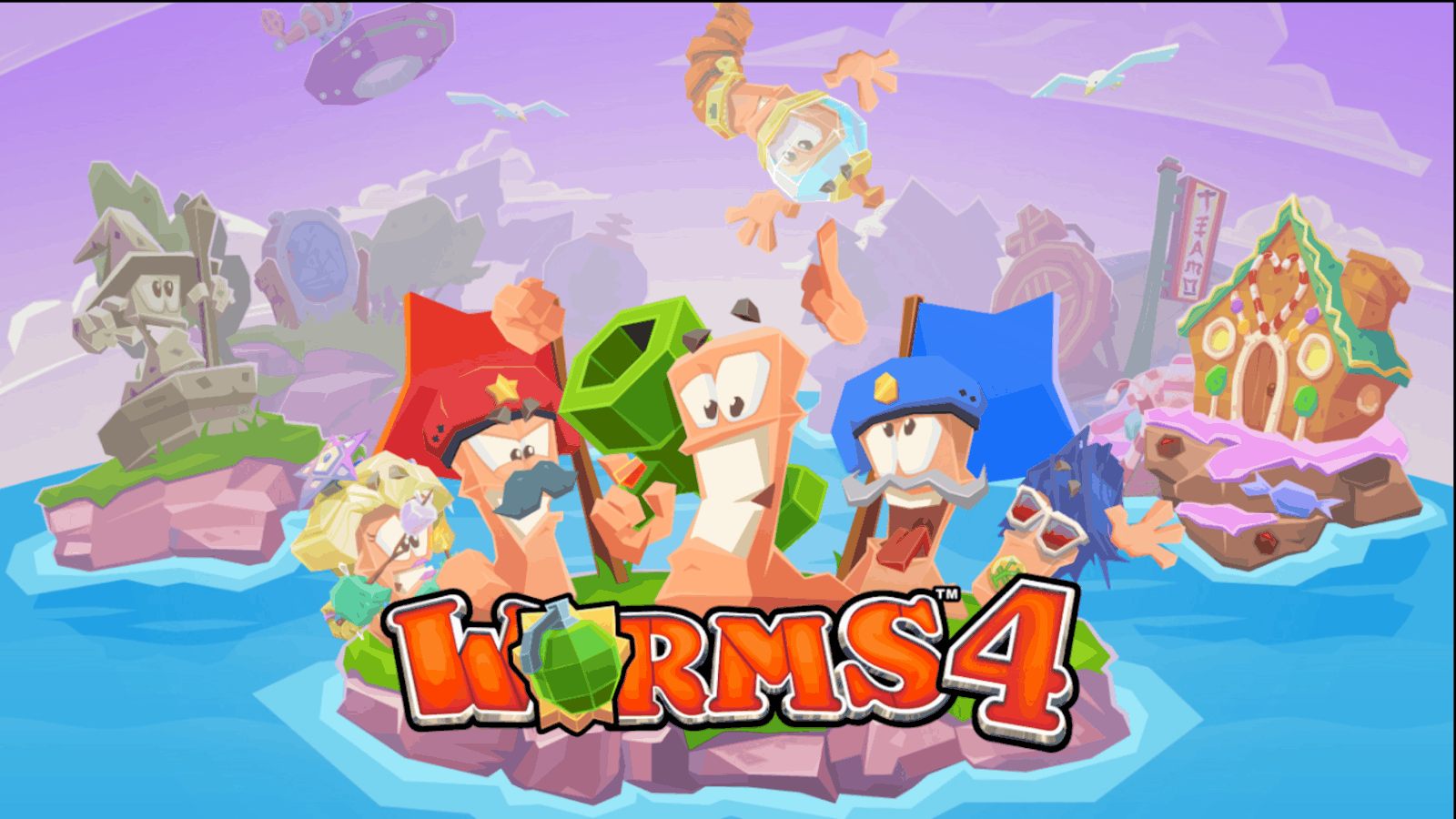 Worms 4 Play Store Banner