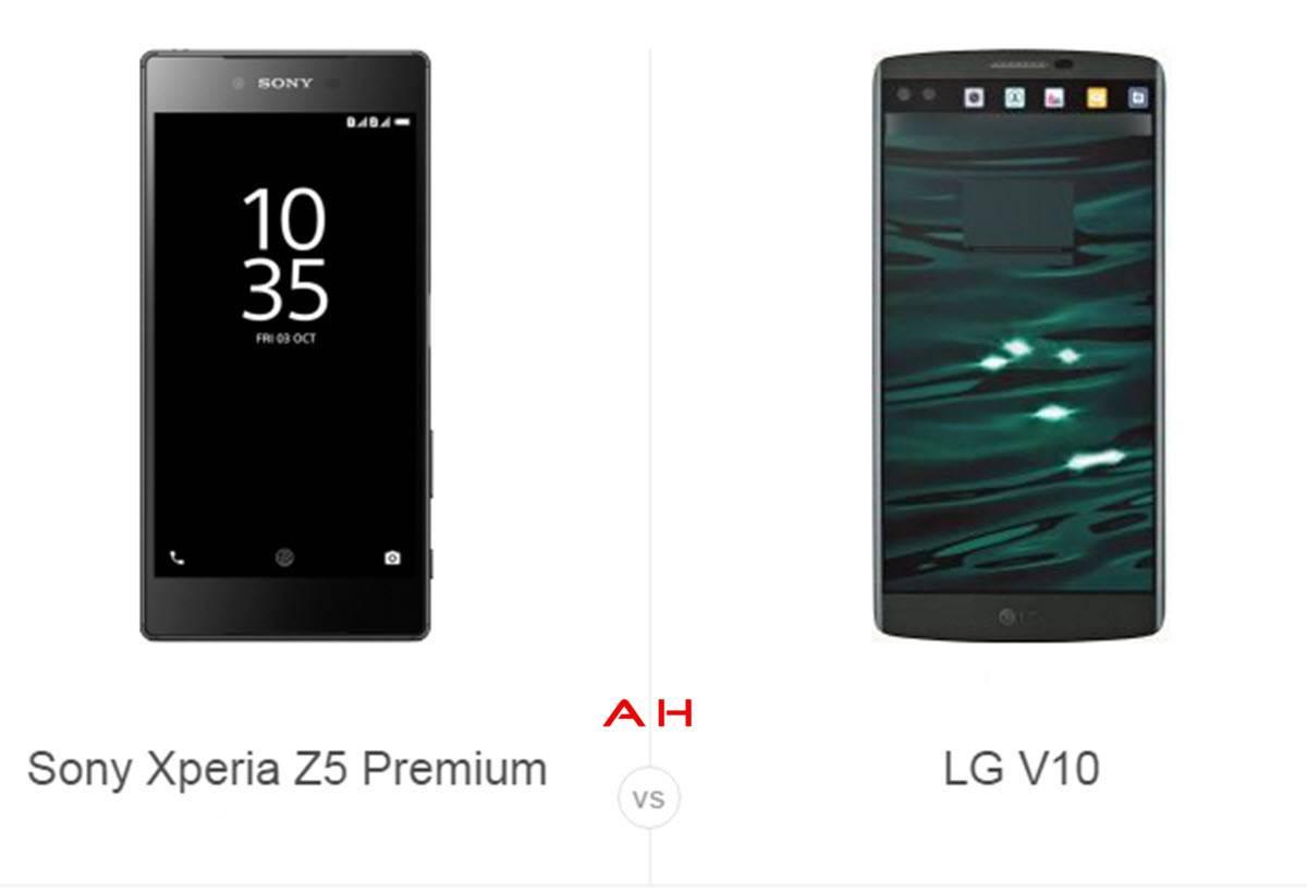 Xperia Z5 Premium vs LG V10 cam AH