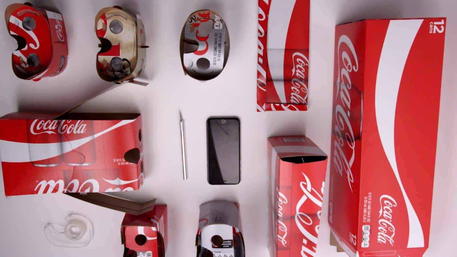 Coke Cola VR headsets
