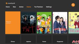 Crunchyroll Android TV AH-1