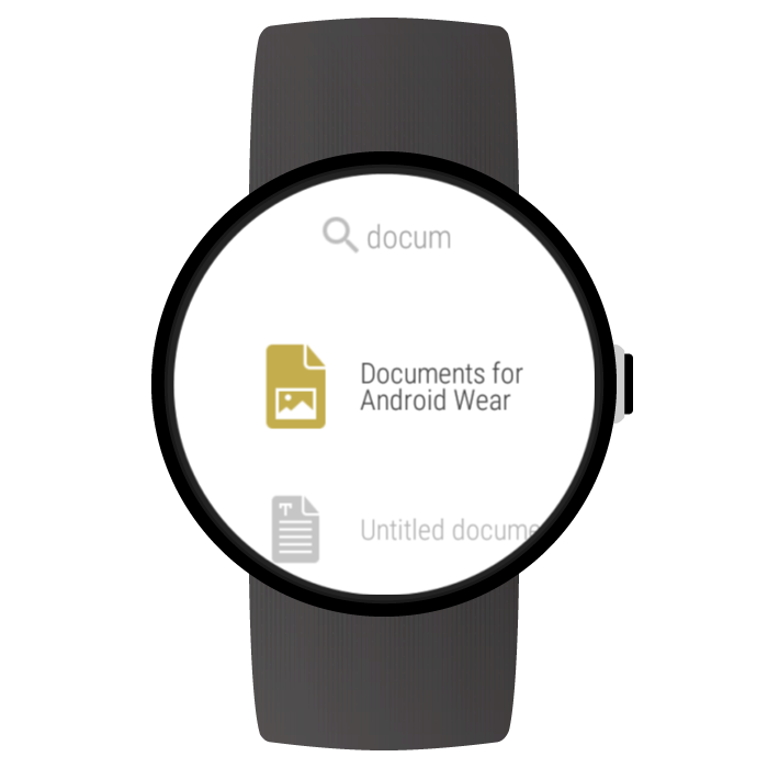 Documents for Android Wear