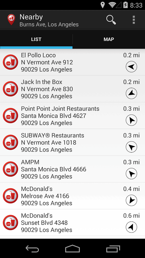 Fast Food Locator
