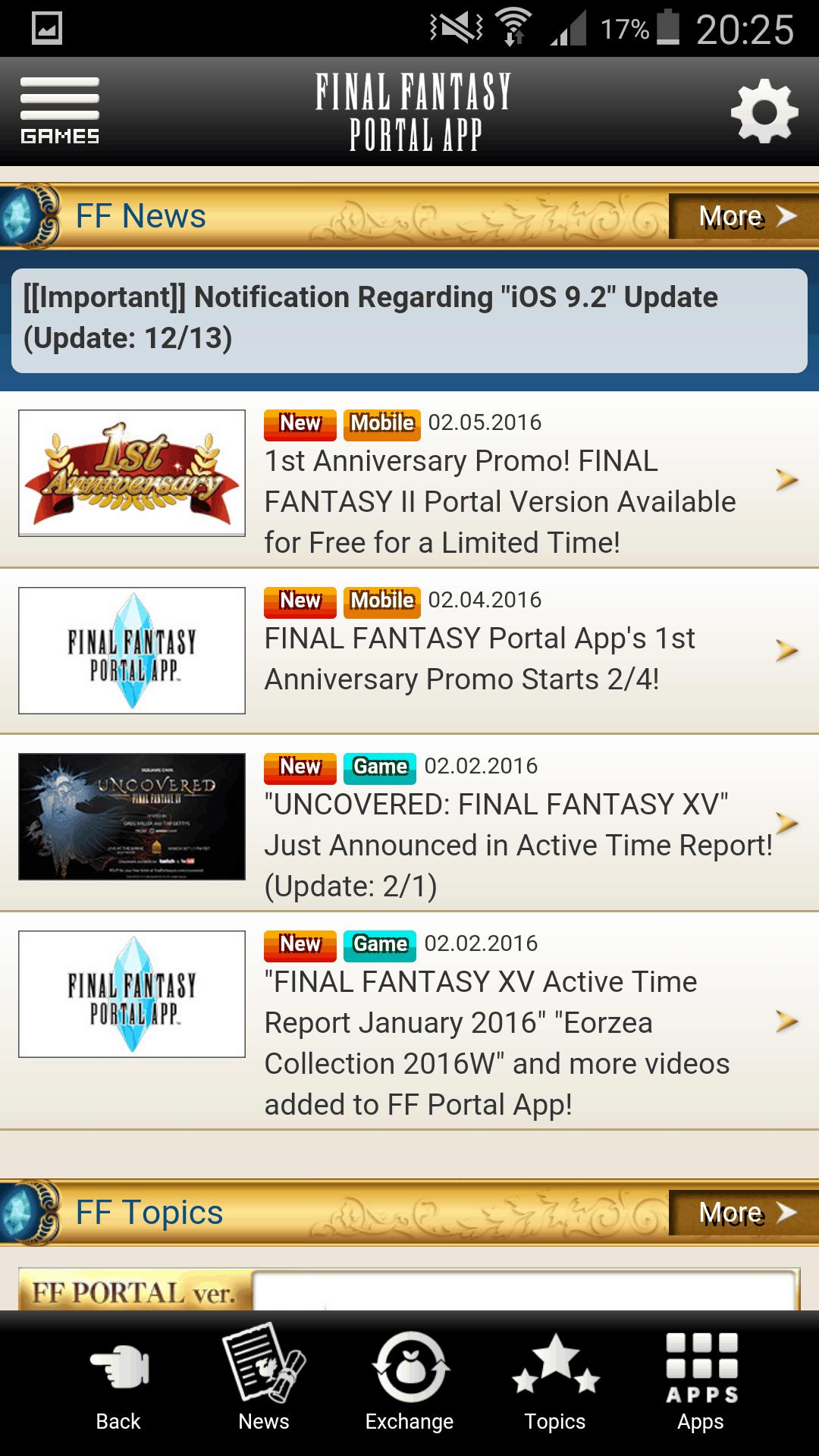 Final Fantasy Portal App Screenshot 1 AH