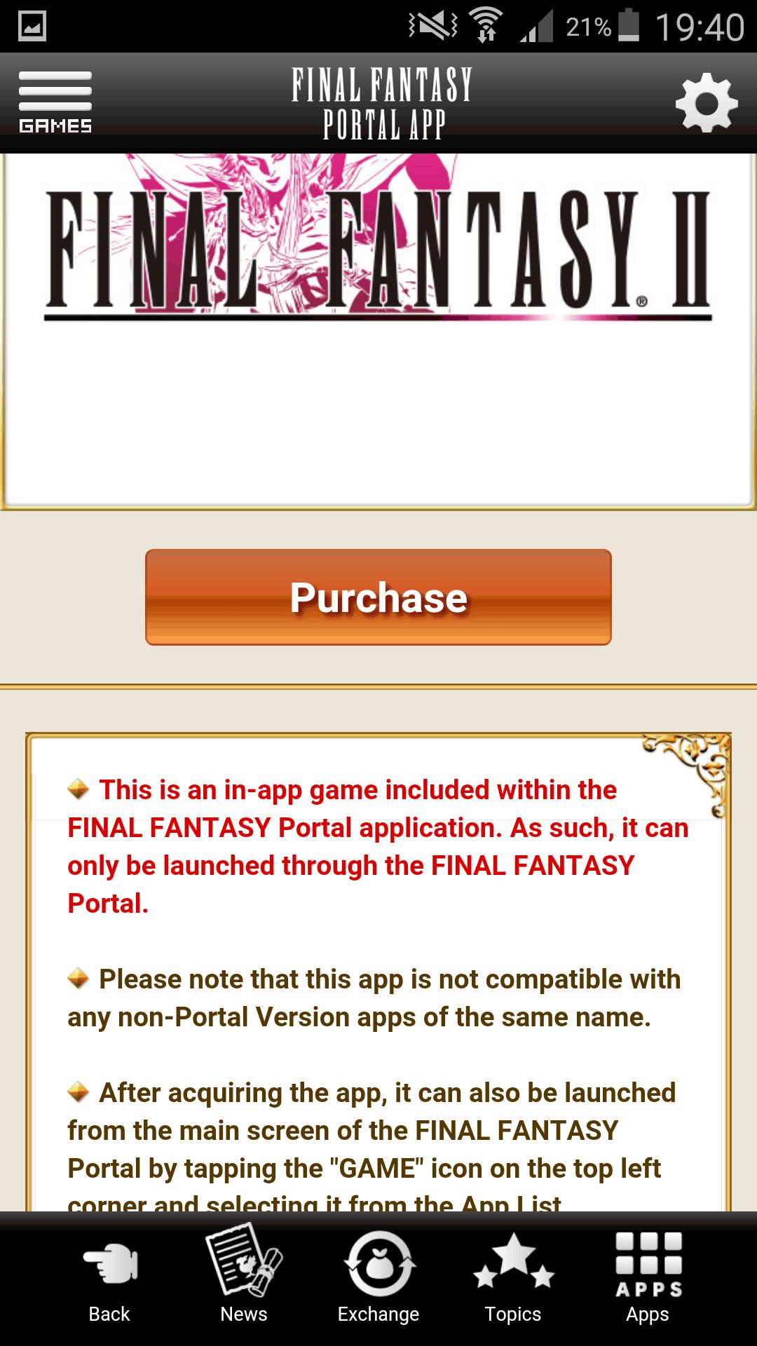 Final Fantasy Portal App Screenshot 2 AH