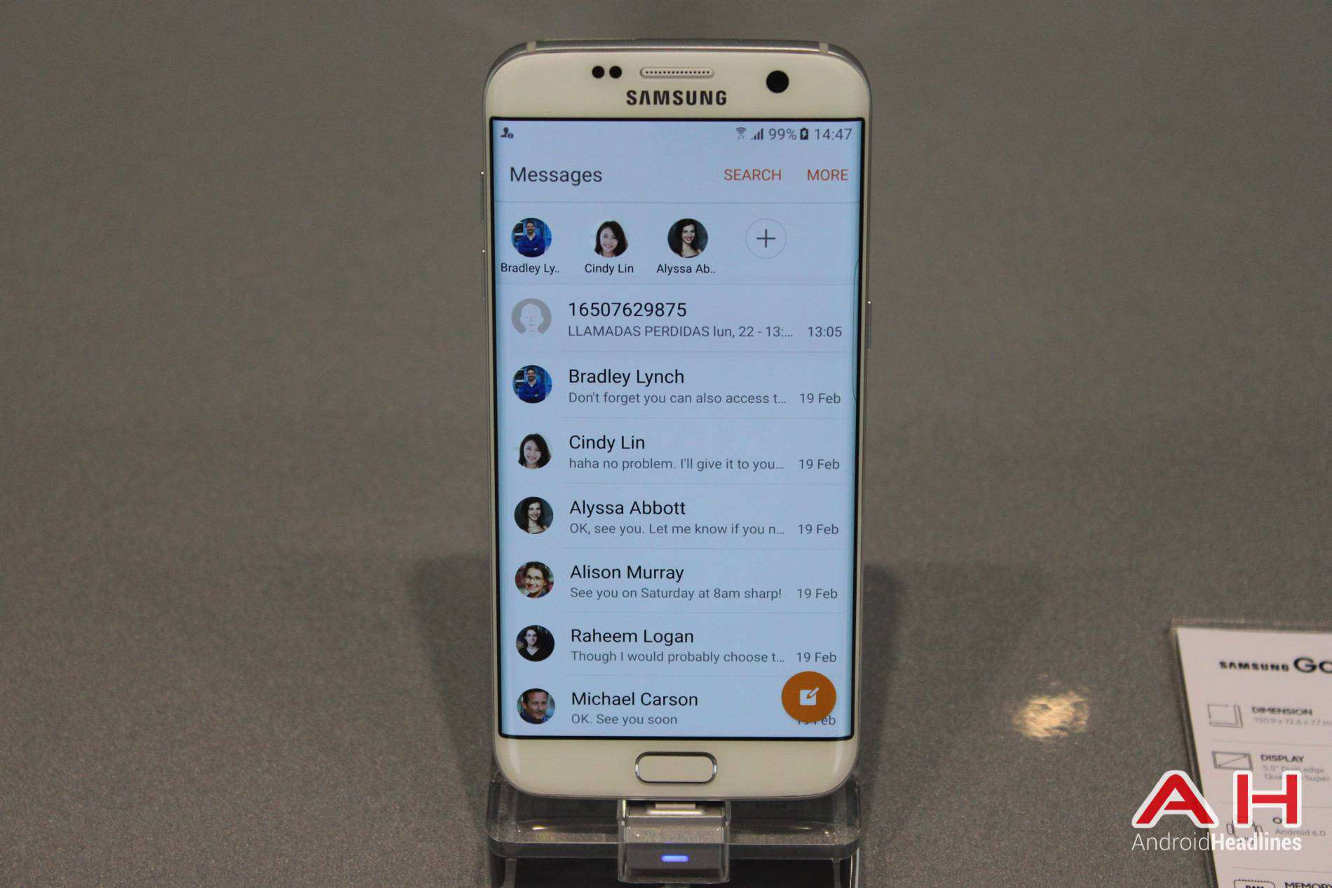Galaxy S7 Edge MWC Booth AH 19
