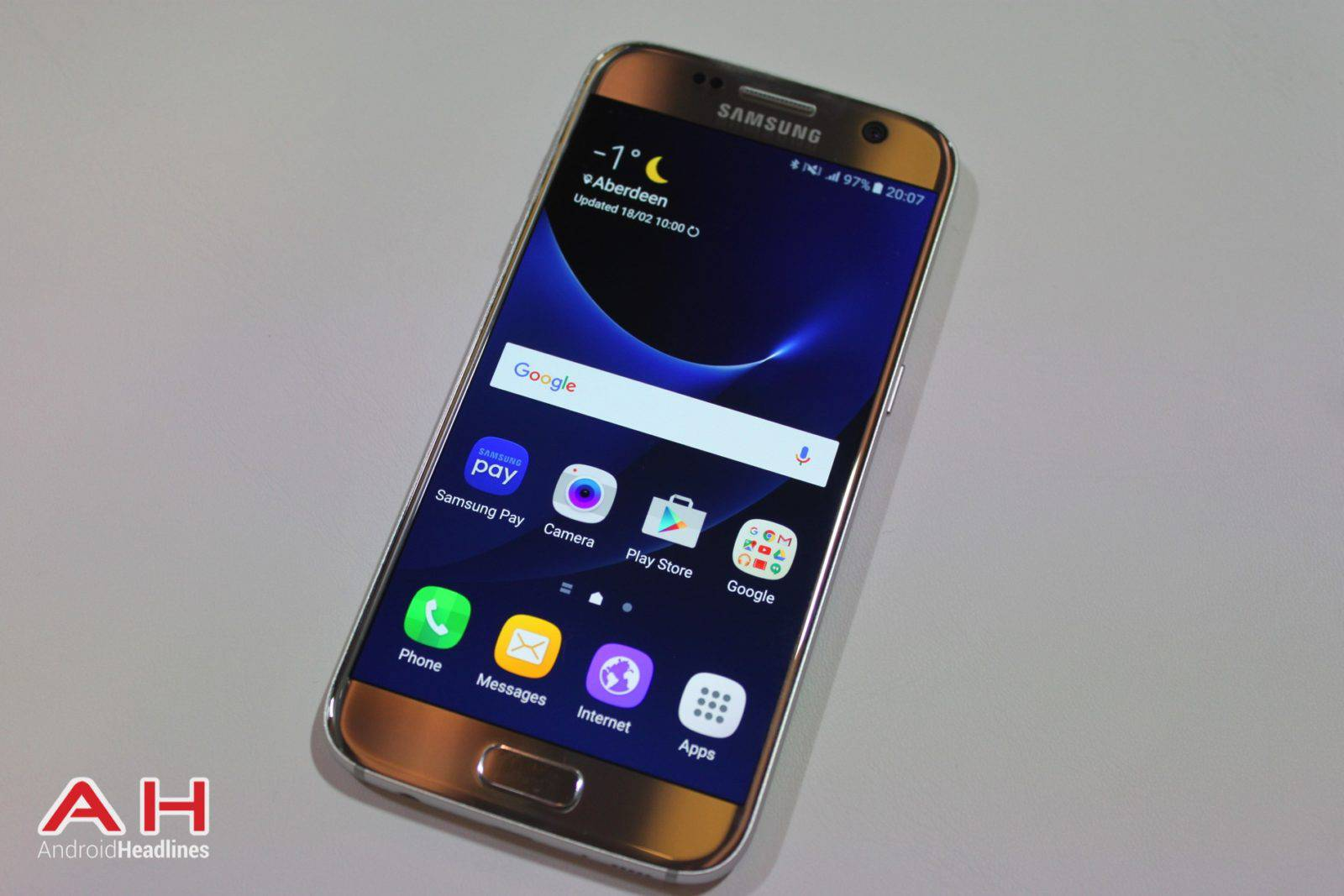Samsung galaxy s7 has feature to show all apps on home screen
