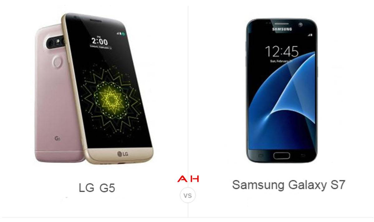 Galaxy S7 vs LG G5 cam AH