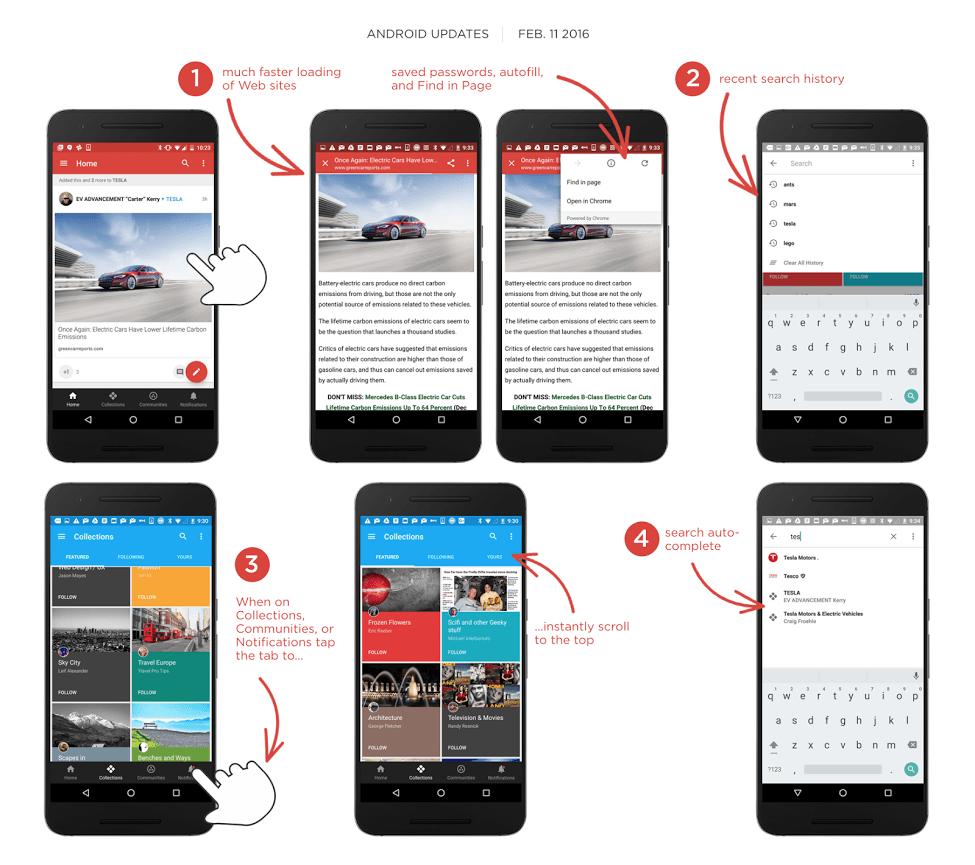 Google+ 7.2 update changes
