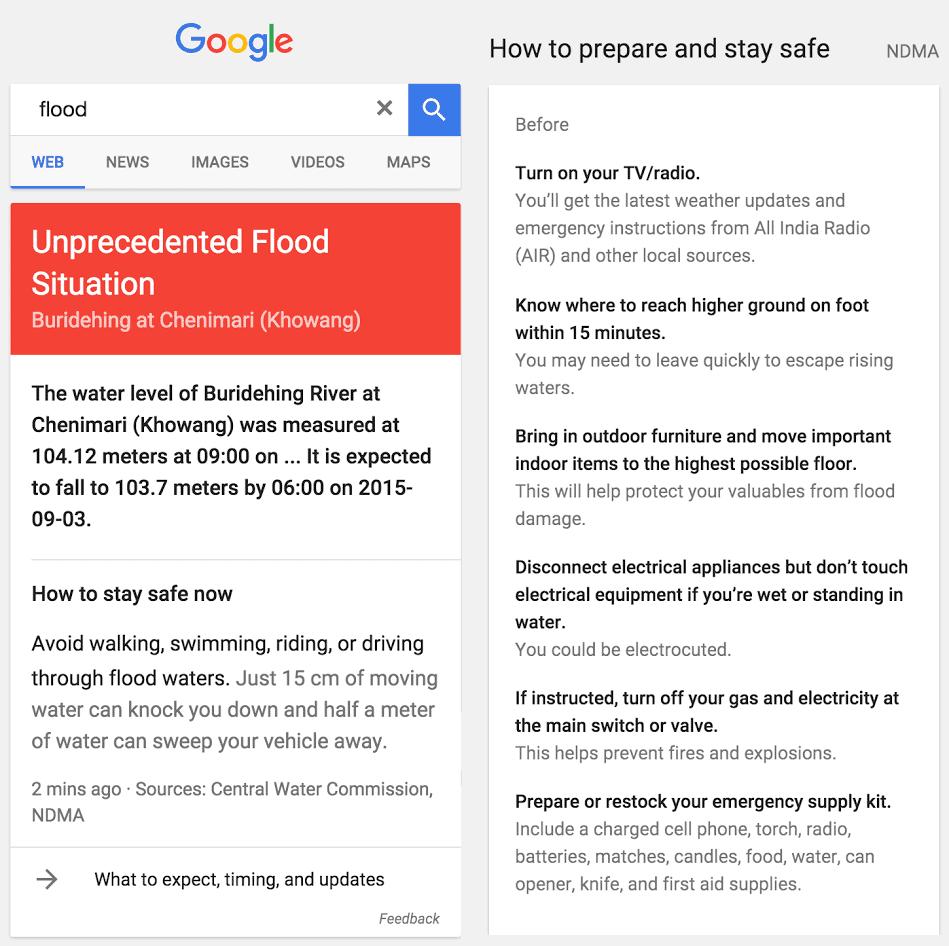 Google Flood Alert India