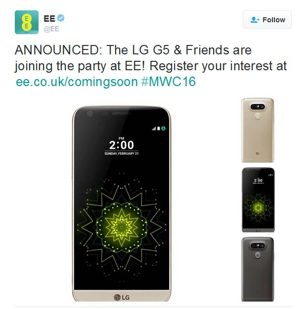 LG G5 EE Confirmation MWC 2016 KK