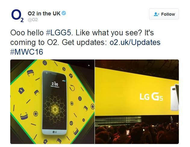 LG G5 O2 Confirmation MWC 2016 KK