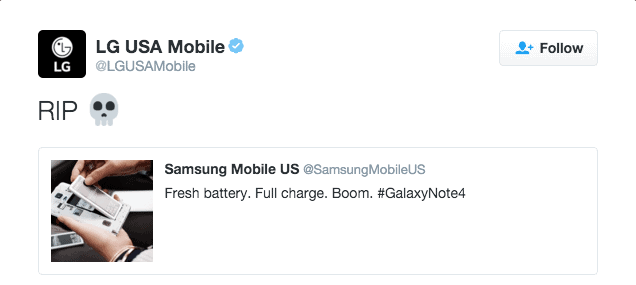 LG Throws Shots at Samsung