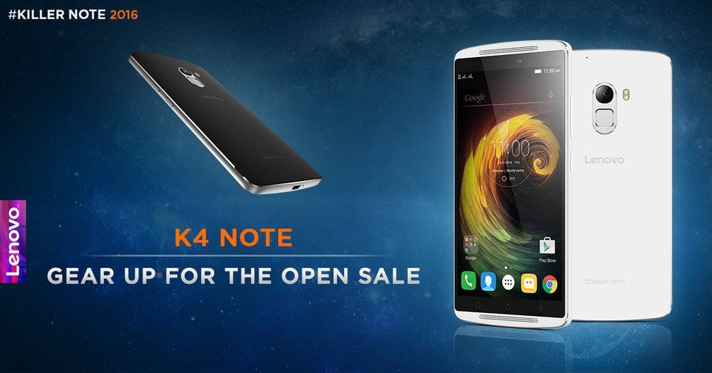 Lenovo K4 Note open sale Twitter_1