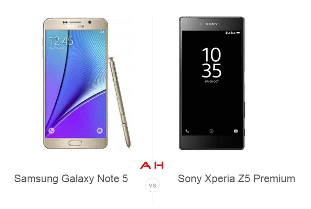 Note 5 vs Z5 Premium cam AH