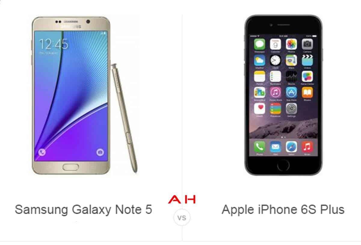 Note 5 vs iPhone 6s Plus cam AH