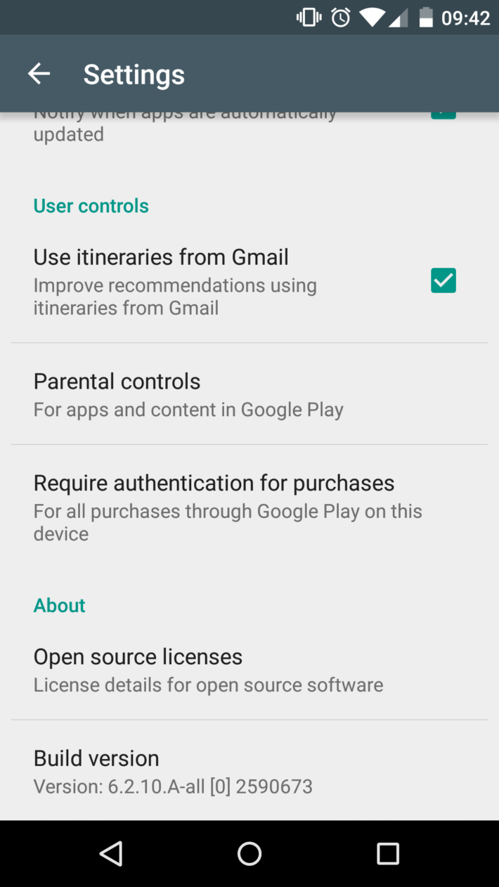 Play Store Gmail