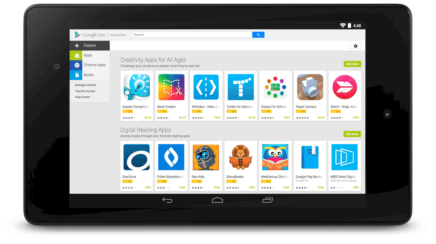 Play for Education Tablets