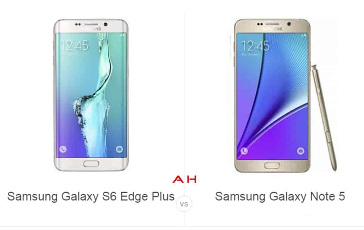 S6 Edge Plus vs Note 5 cam AH