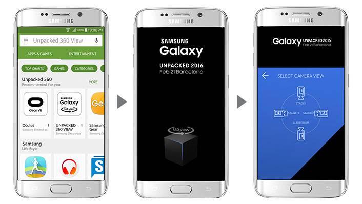 Samsung unpacked VR app