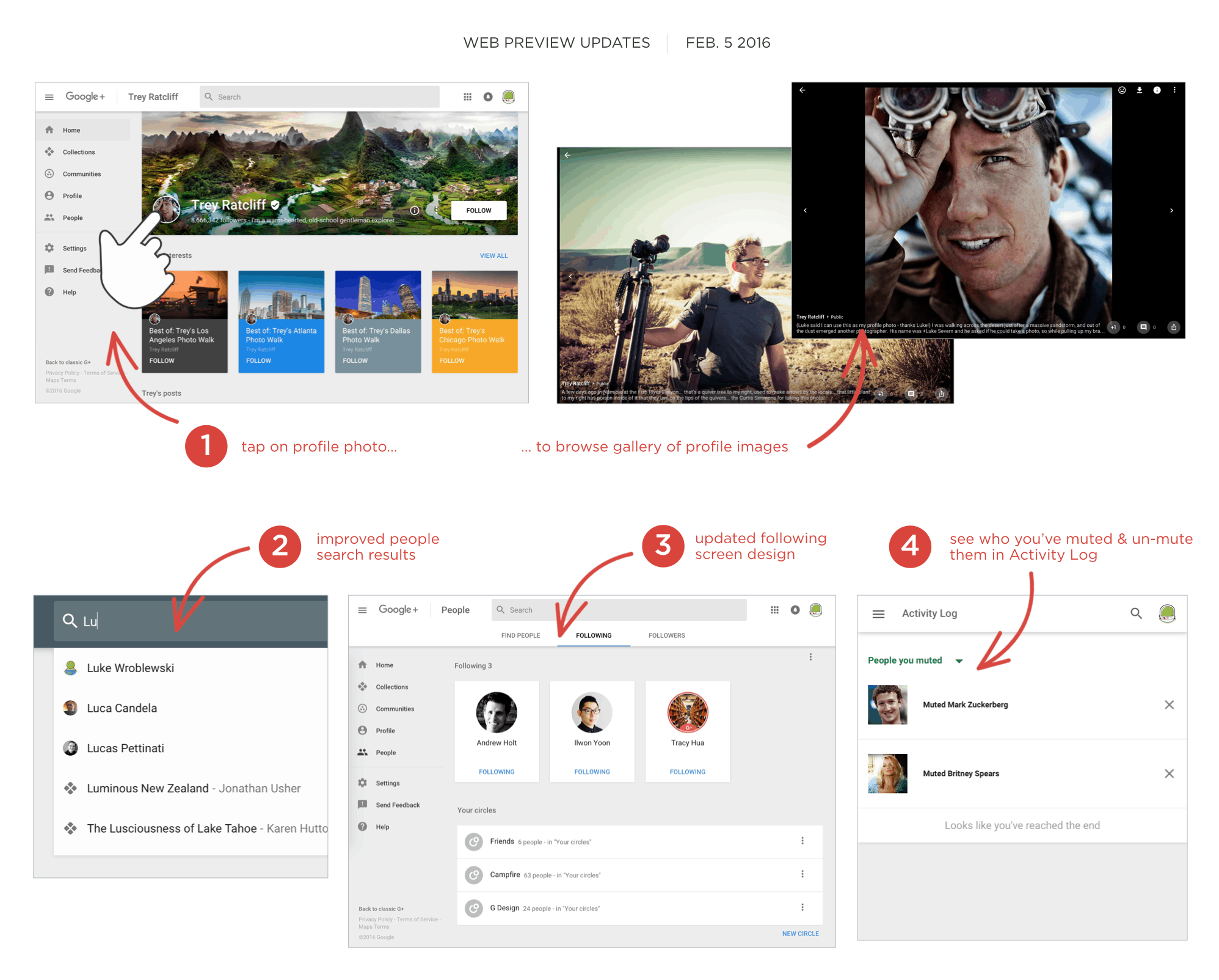 Google Plus web preview update