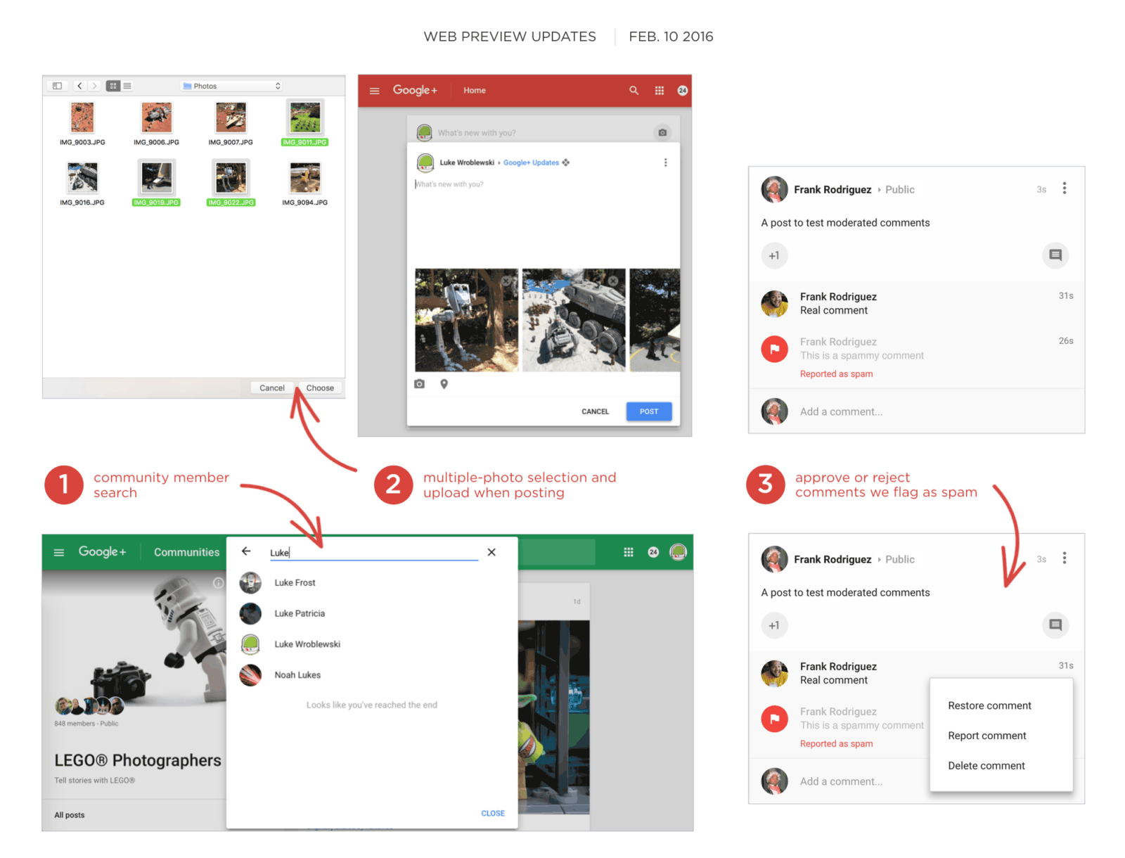 Google+ web preview