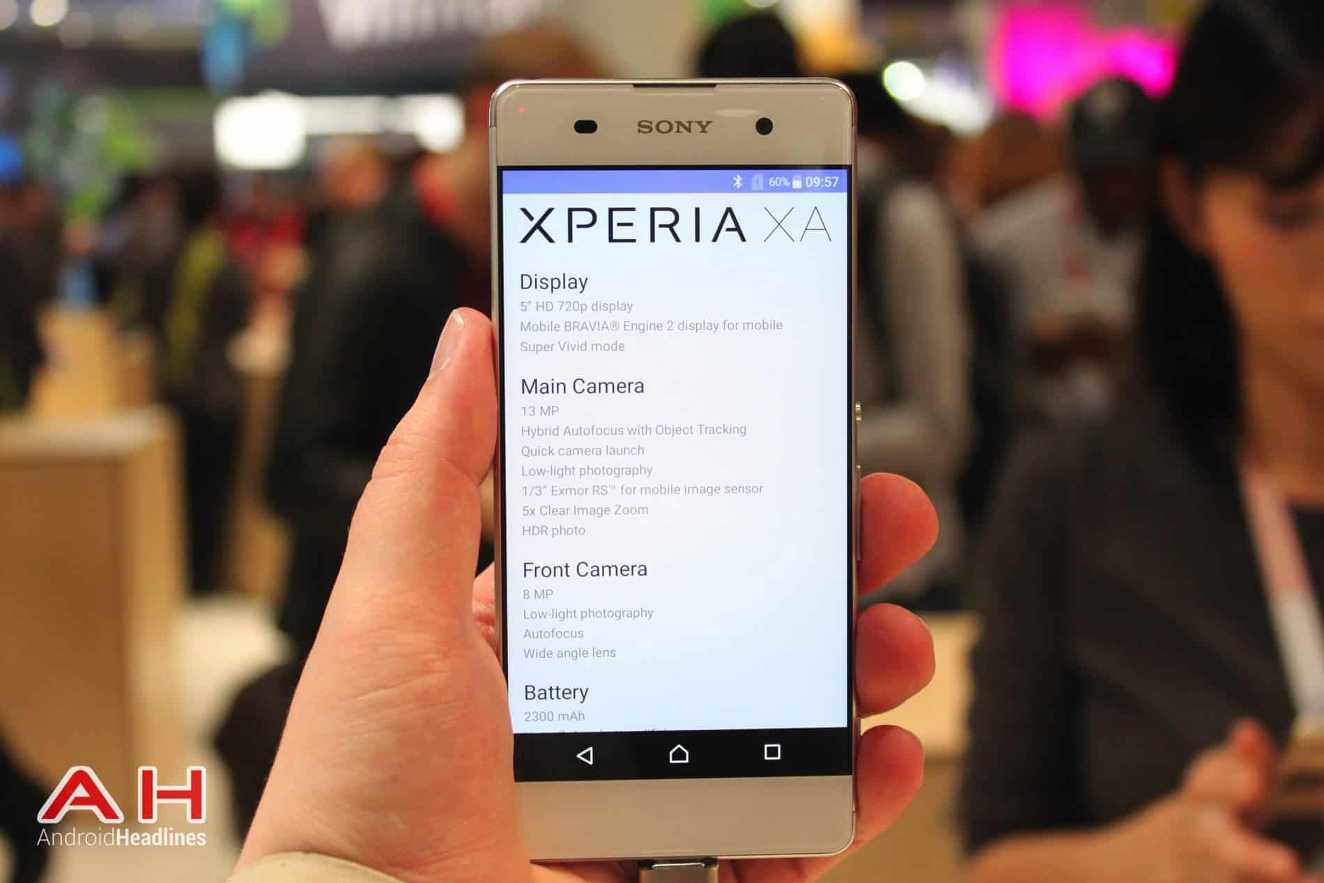 Sony Xperia XA Hands On MWC AH 2