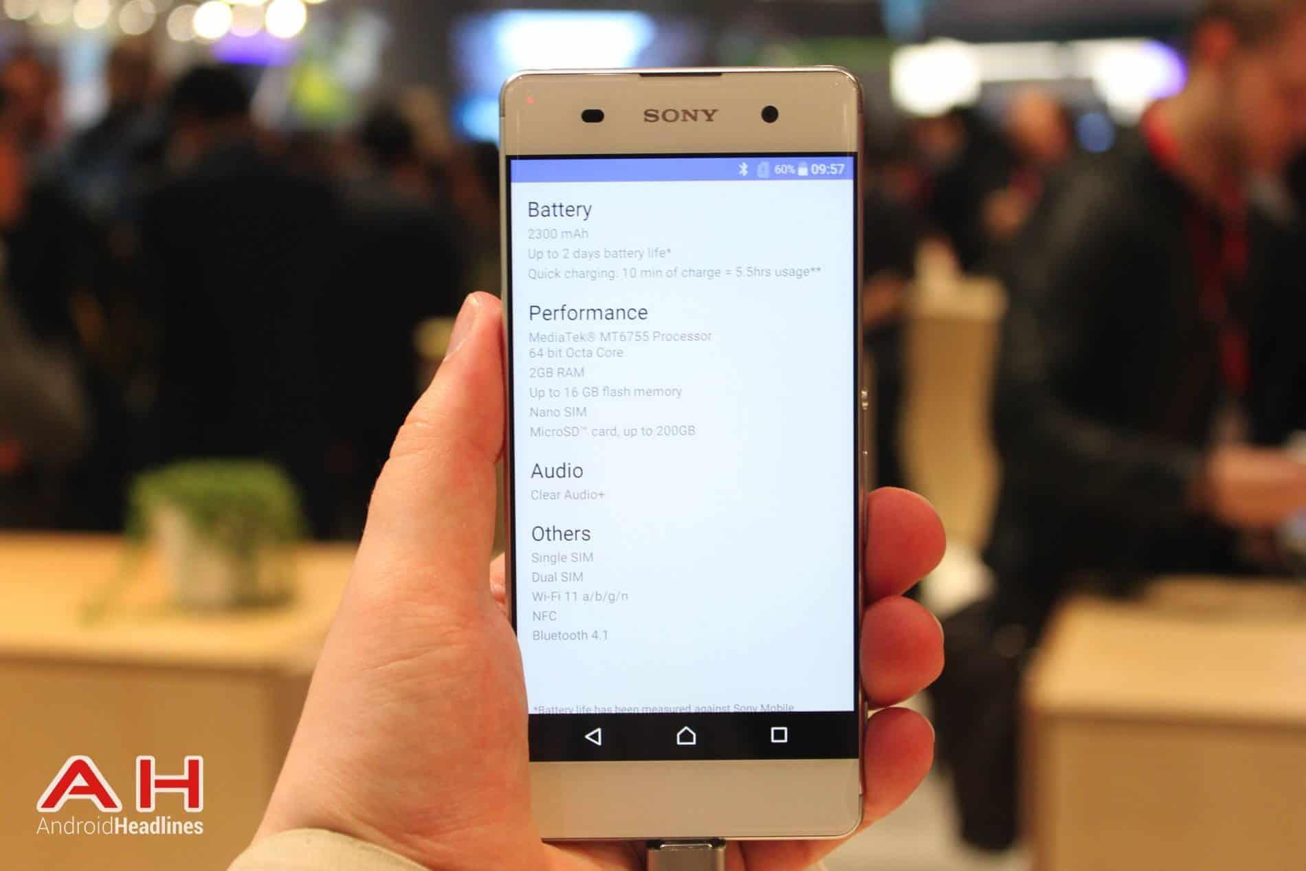 Sony Xperia XA Hands On MWC AH 3