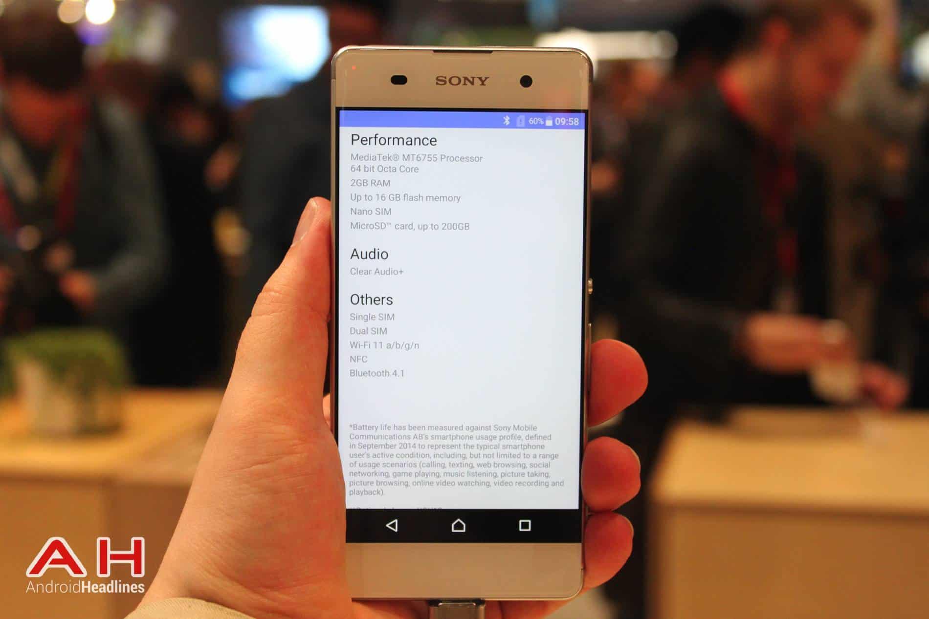 Sony Xperia XA Hands On MWC AH 5