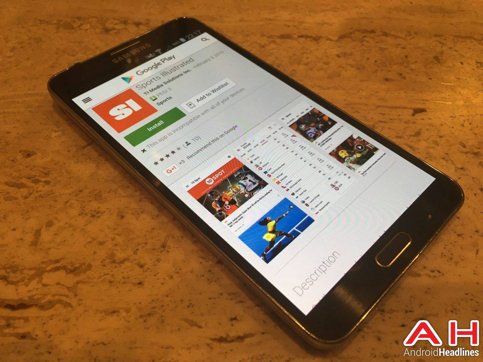 Sports Illustrated App Android Google Play AH