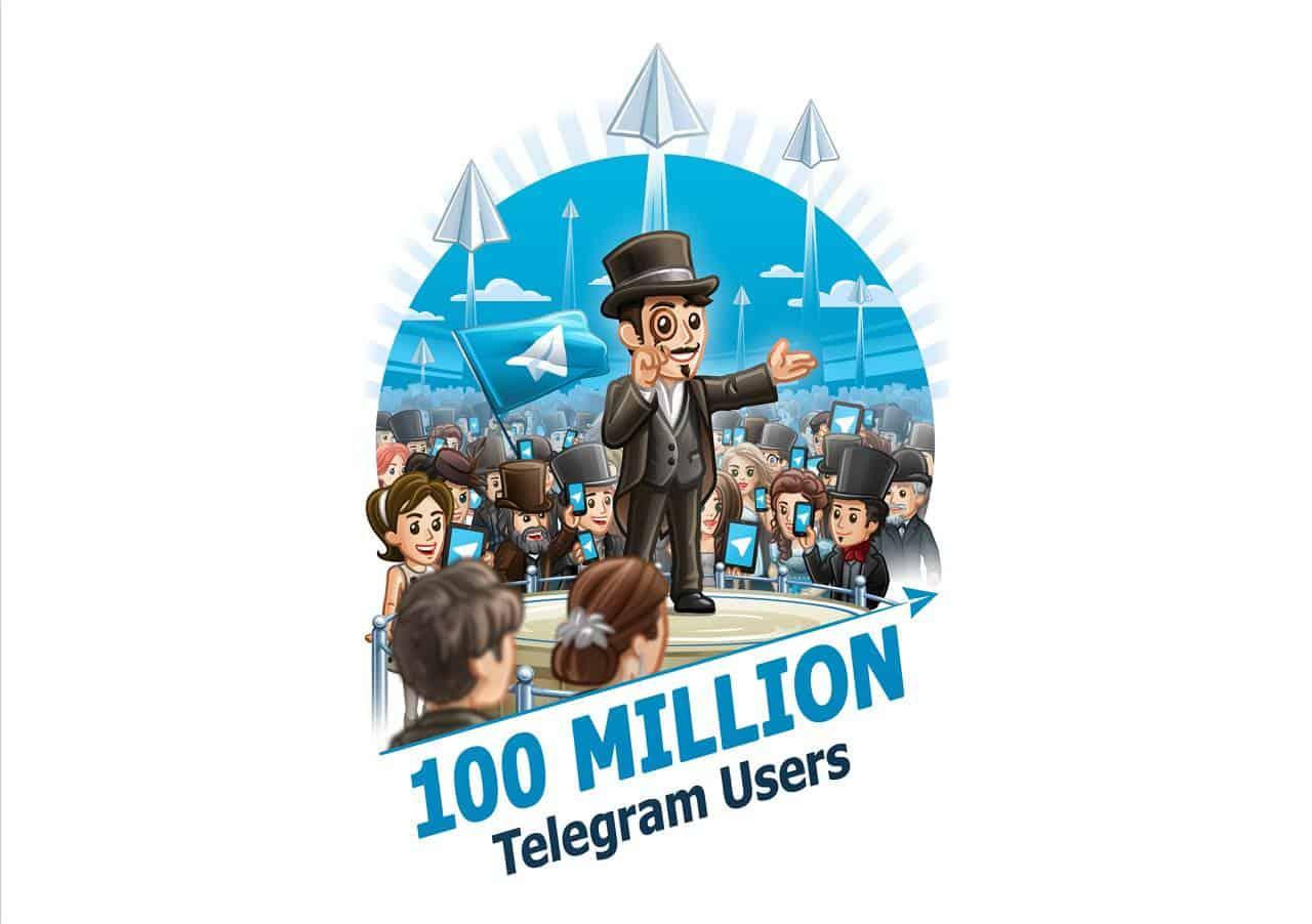 Telegram 100 Million Users Feb 2016 KK