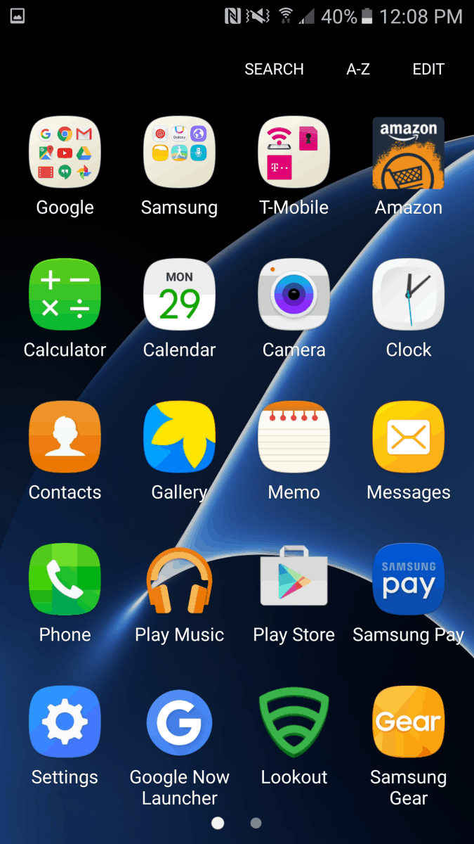 TouchWiz On Galaxy S7 Edge 2