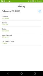iRobot Roomba 980 AH NS app job history 2