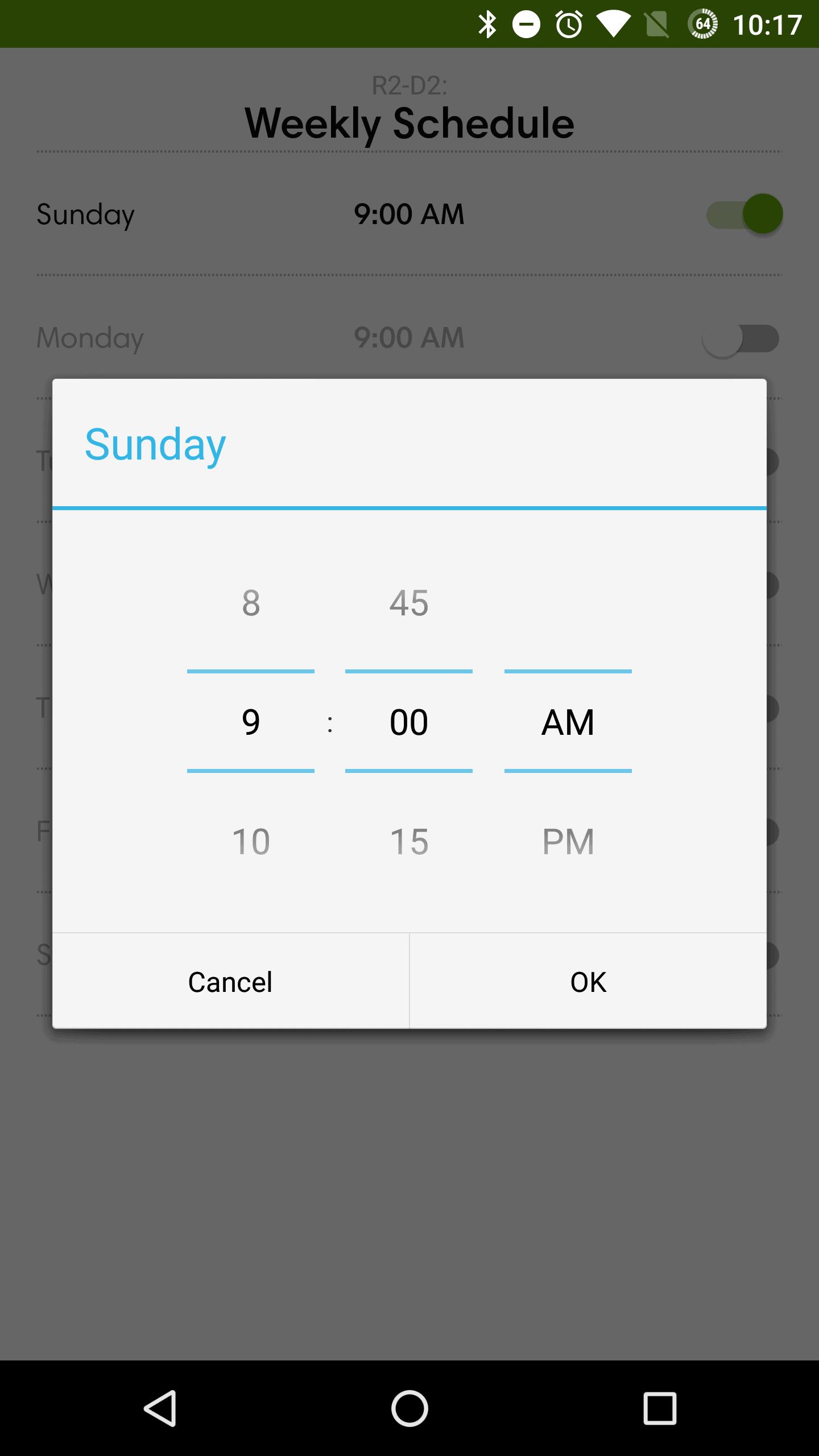 iRobot Roomba 980 AH NS app schedule 2