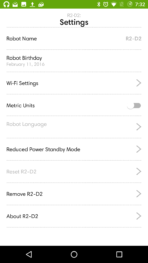 iRobot Roomba 980 AH NS app settings